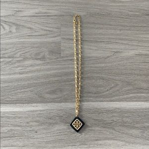 Tory Burch Necklace. Black and gold.